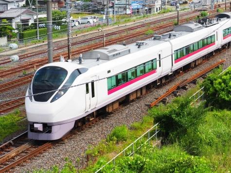 JR常磐線 E657系 電車 特急ひたち4号【土浦駅周辺】
