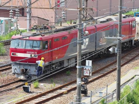 JR貨物 EH500-74 牽引の高速貨物B 2095レ【土浦駅周辺】