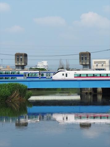 JR常磐線 E657系 特急ときわ64号【新川橋梁】