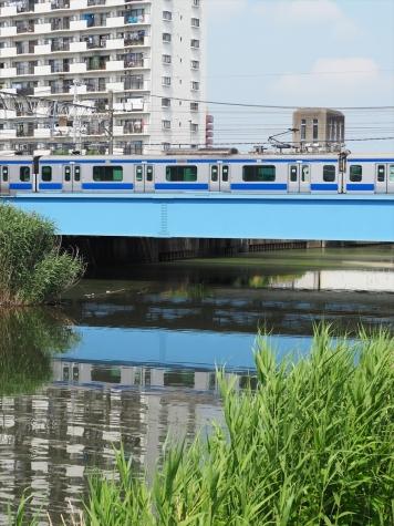 JR常磐線 E531系 電車【新川橋梁】