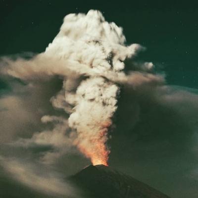 「 バリ島  アグン山 28日に噴火