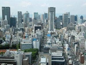 大阪高層ビル群