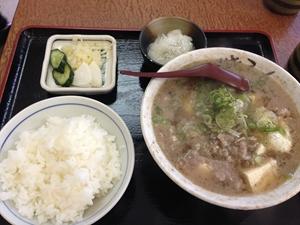 一富士食堂の肉吸い定食