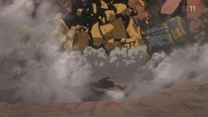 破壊されたナオミのプラント船