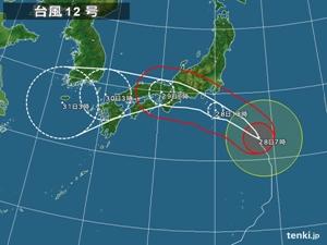 頭おかしい台風12号