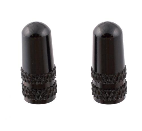 111570 仏式アルミバルブキャップ ブラック