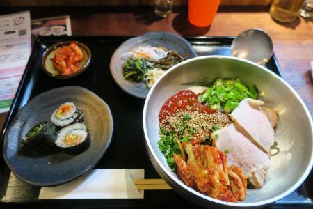 ピビン冷麺定食