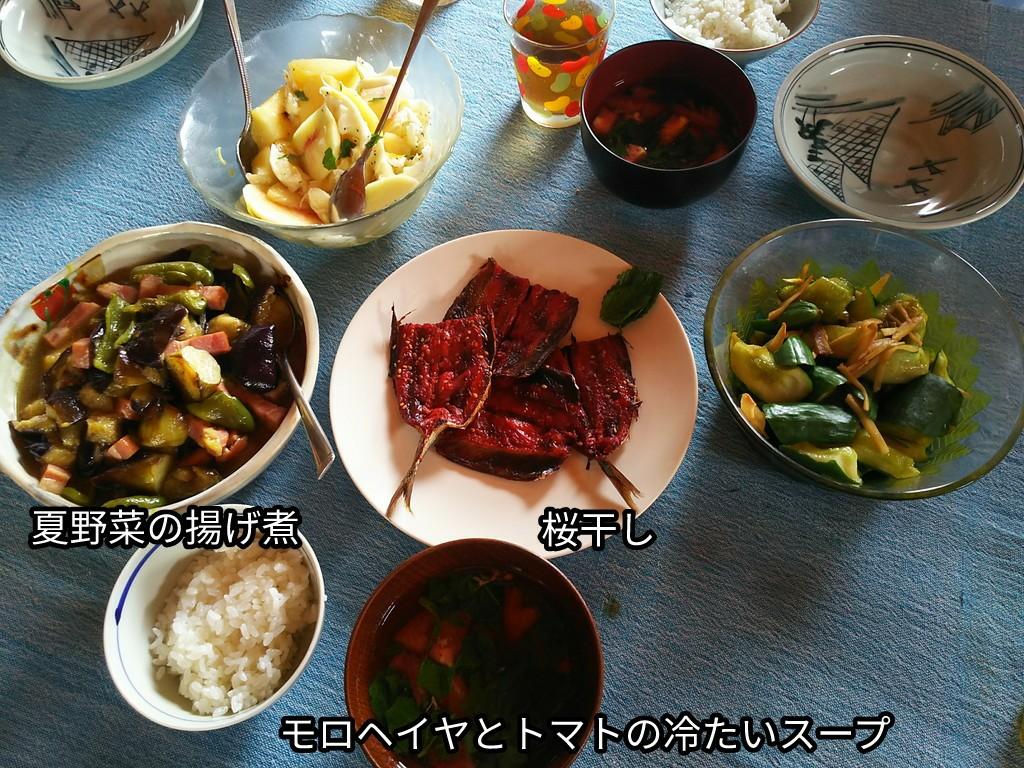 夏野菜の揚げ煮