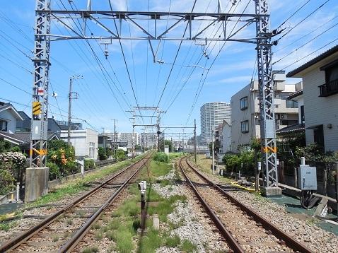 小田急江ノ島線の相模大野2号踏切@相模原市南区d