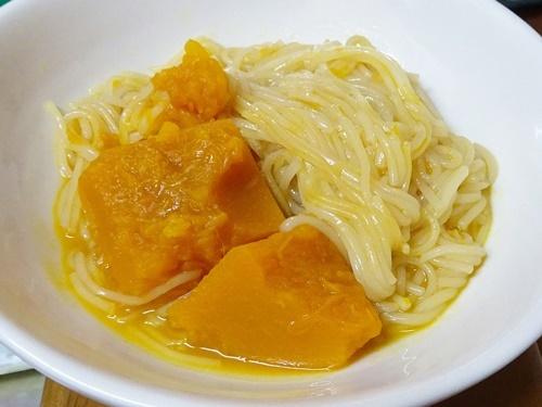 南瓜と素麺の煮物