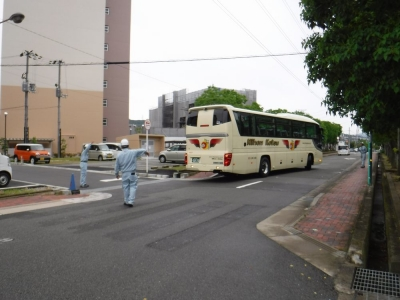 現場見学会 バス