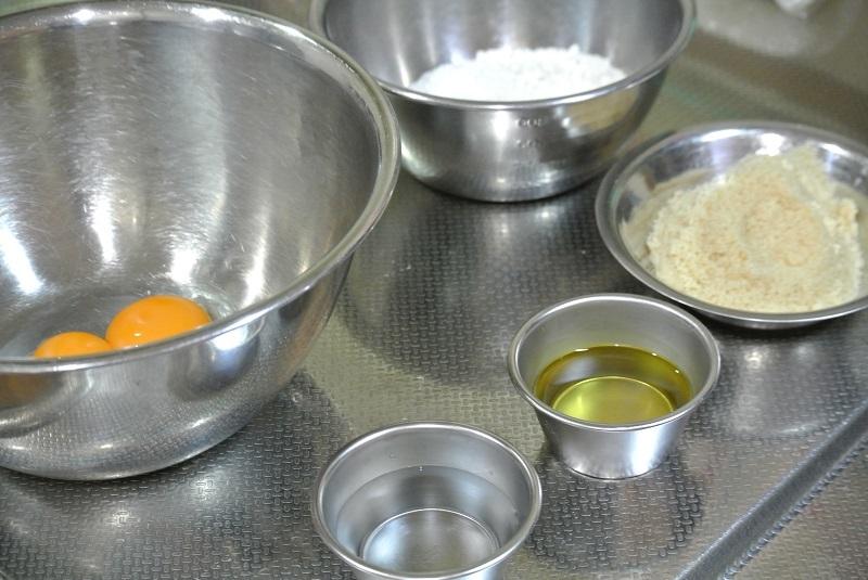 シフォンケーキ材料1