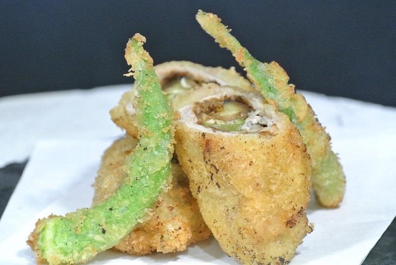 夏野菜の肉巻きフライ2