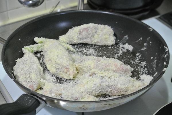 夏野菜の肉巻きフライパン粉