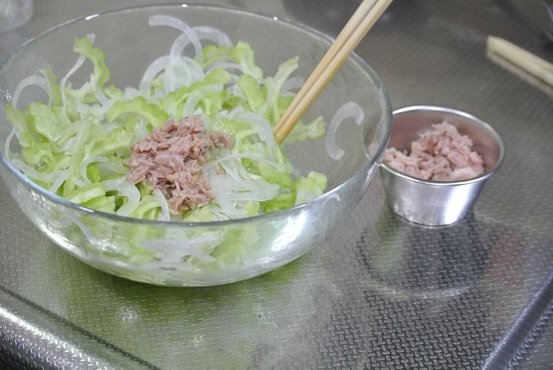 ゴーヤのサラダ4