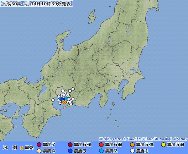 【東海】愛知県で最大震度3の地震発生 M3.5 震源地は愛知県西部 深さ約10km