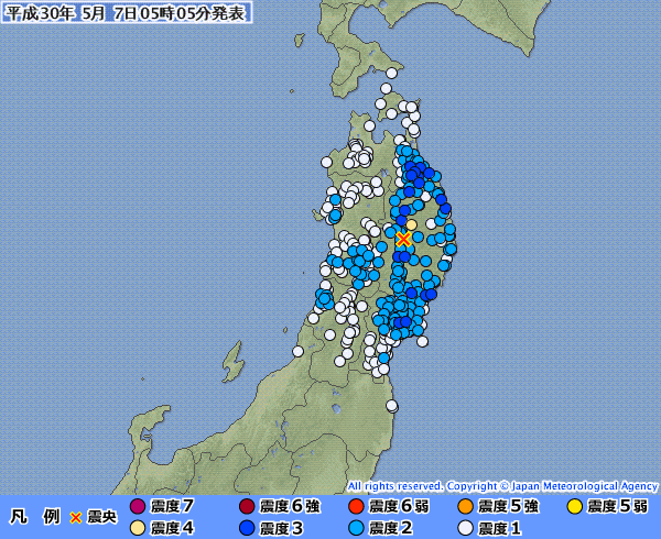 東北地方で最大震度4の地震発生…昨夜は九州・熊本でも震度4の地震