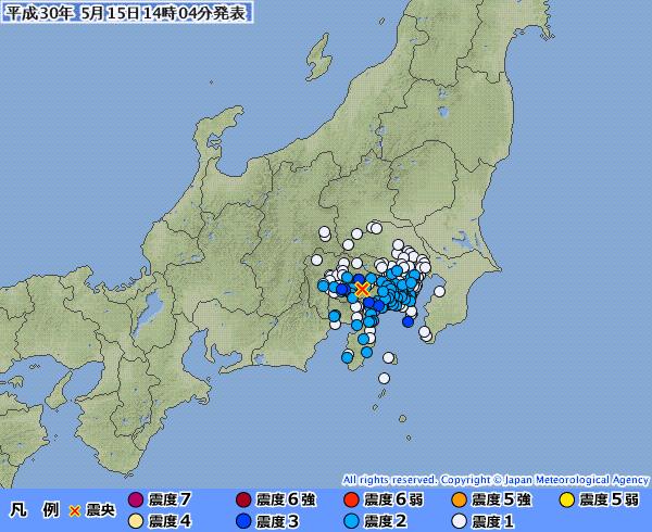 【富士山】昨日、昼にあった「富士五湖」震源の地震なんかヤバくないか?