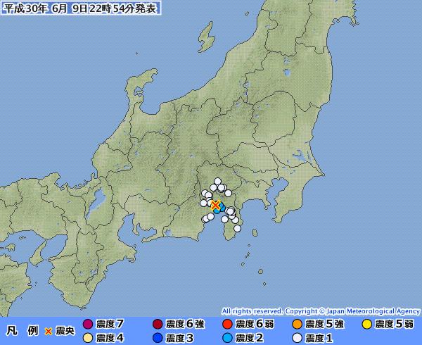 昨日、静岡で起きた震源地「静岡県東部」の震度3の地震だけど場所が怖いな
