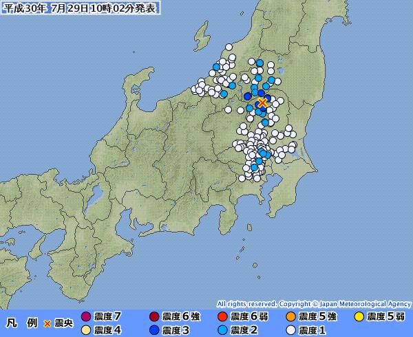 栃木と福島で最大震度3の地震 M4.3 震源地は栃木県北部 深さ約10km