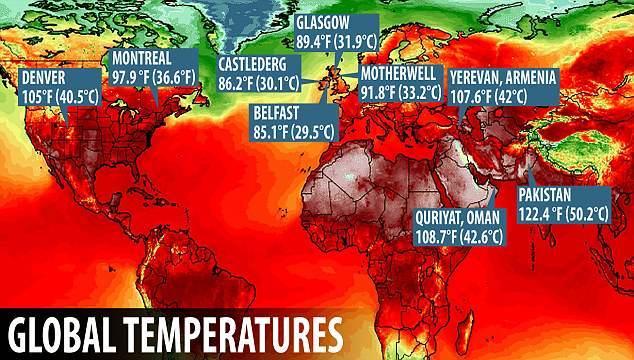 【ヨーロッパ】イギリスでも続く猛暑…今年最高水準の外気温「35.3℃」を記録、食糧不足への懸念も広がる