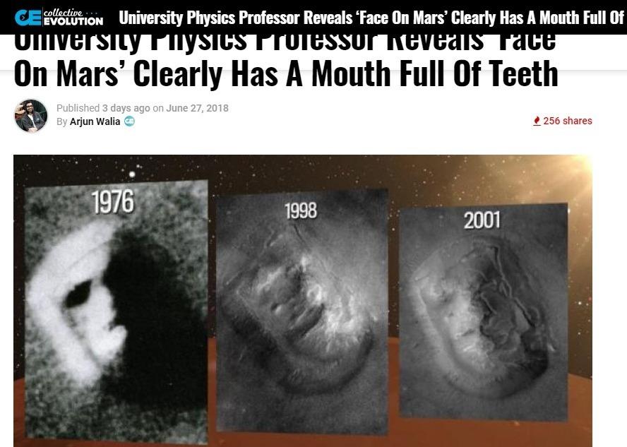 【謎】火星の「人面岩」はやはり人工物だった?最先端分析で「眼球と歯」を確認したらしい