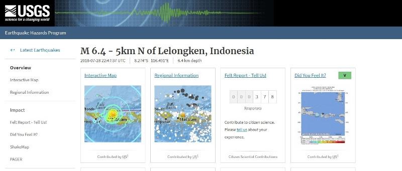 【バリ島】インドネシアのリゾート地で「M6.4」の地震発生