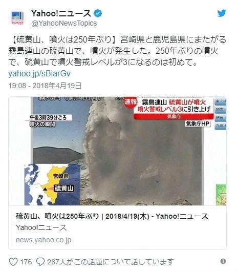 【霧島連山】硫黄山の噴火は「250年」ぶり…噴火警戒レベルを「3」に引き上げ