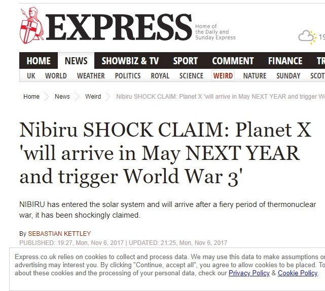 【あと3日】惑星ニビルが「2018年5月中」に地球へ衝突する!さらに、第三次世界大戦が勃発する!