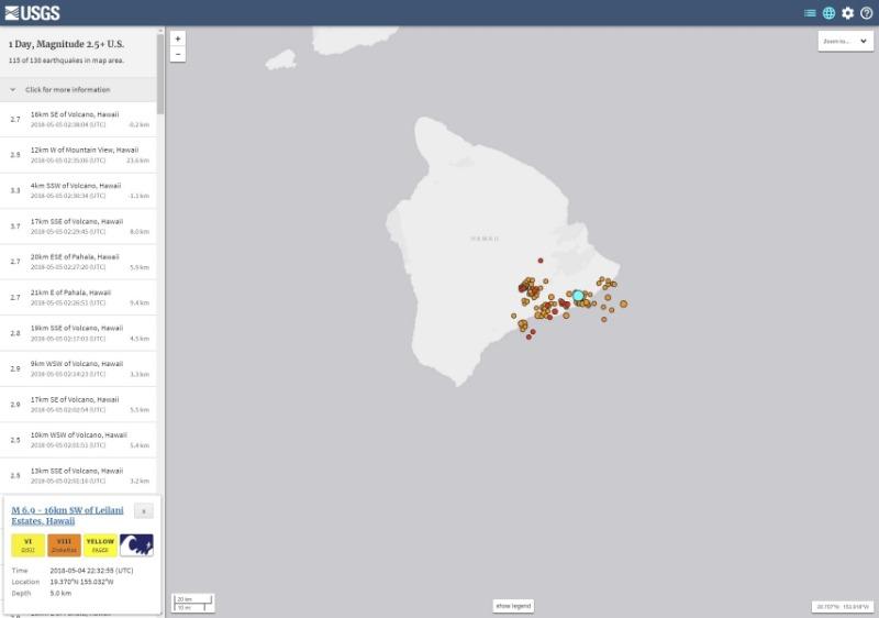 【キラウエア噴火】ハワイで最大震度「M6.9」の地震発生…M3クラスの地震も相次ぐ