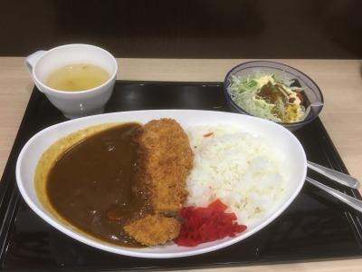 道の駅富士川 食べた夕食 カツカレー
