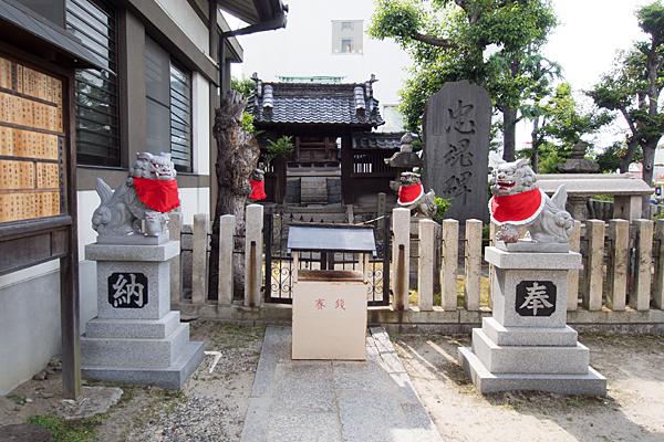 則武新町津島神社前と狛犬