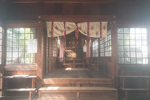 菊井金刀比羅社拝殿内