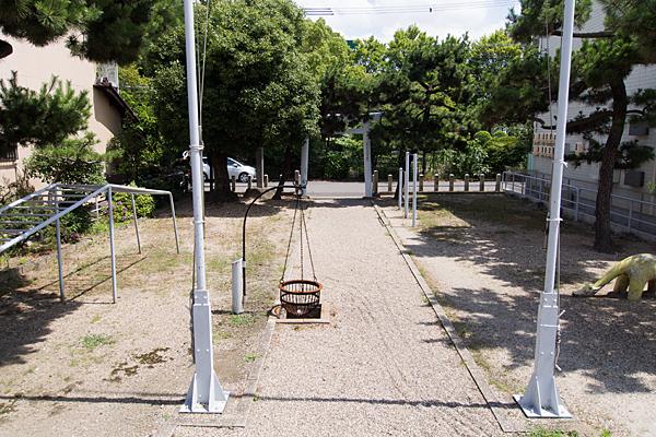 荒子川水神社境内の風景
