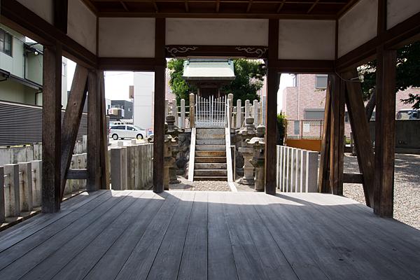 土古町八劔社拝殿から本社