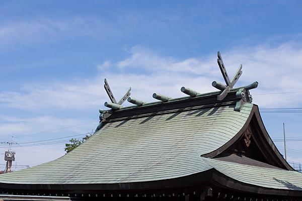 本宮町龍神社本社屋根