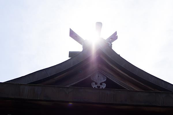 本宮町龍神社拝殿屋根