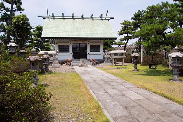 藤前神明社参道から拝殿