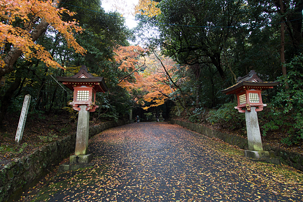 石上神宮入り口