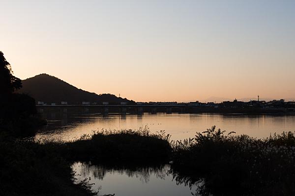 犬山木曽川夕景