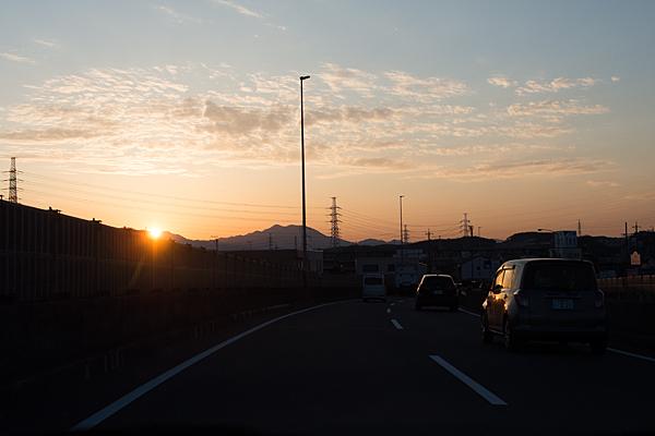 夕日と帰り道