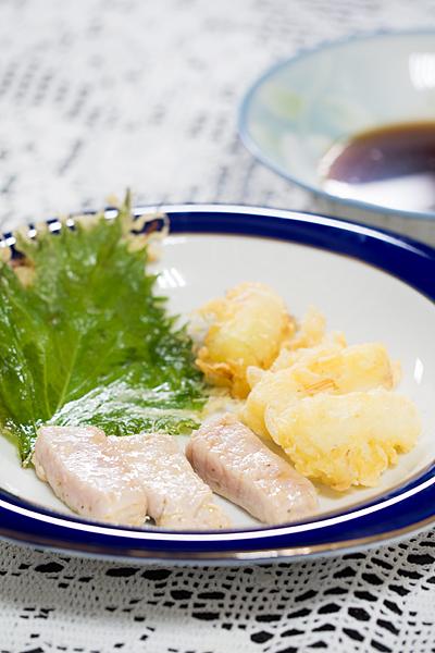マグロと天ぷら