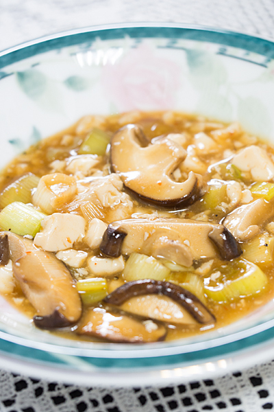 豆腐とシイタケ