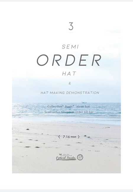 3three hat ハット 帽子 新潟県 見附市のハンドメイドハット セミオーダー