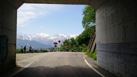 トンネルを抜けると・・・雪国、ではなく、北アルプスの素晴らしい景色でした~!@嶺方峠