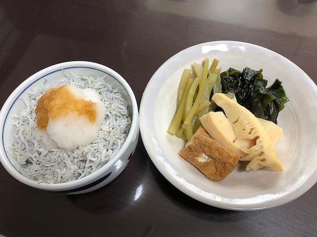 シラス丼&若竹煮