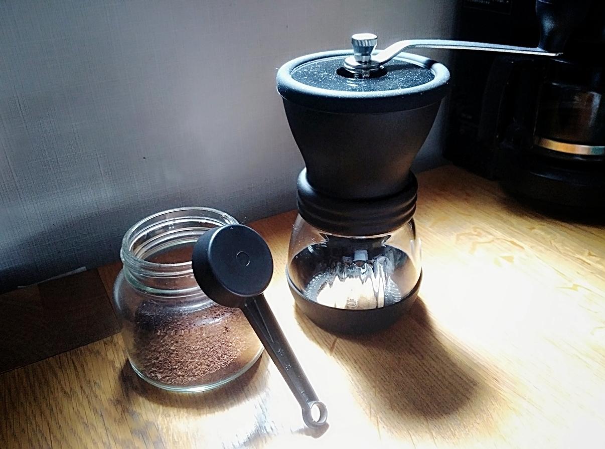 【HARIO セラミックコーヒーミル・スケルトン】でコーヒーミル生活始めました