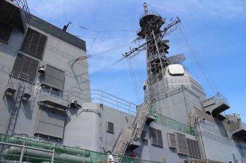 よこすかYYのりものフェスタ 試験艦あすか上部構造物