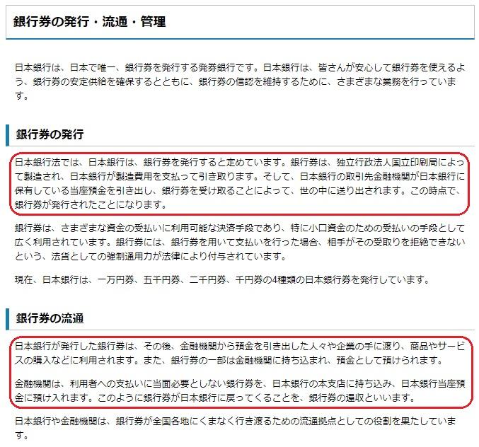 日本銀行券 管理