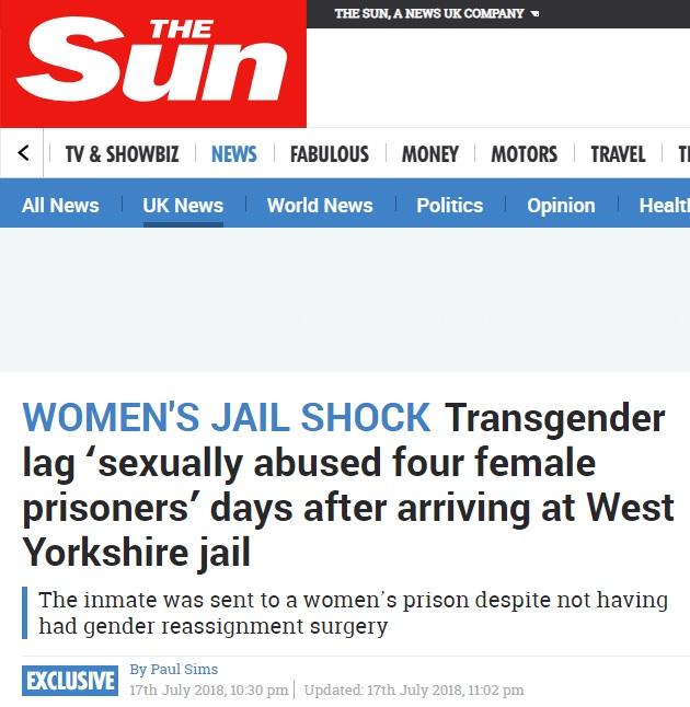 トランスジェンダー 刑務所